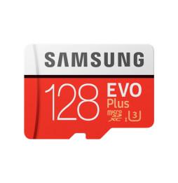 Carte mémoire Samsung EVO Plus 128Go (avec adaptateur SD) (MB-MC128GA/EU)