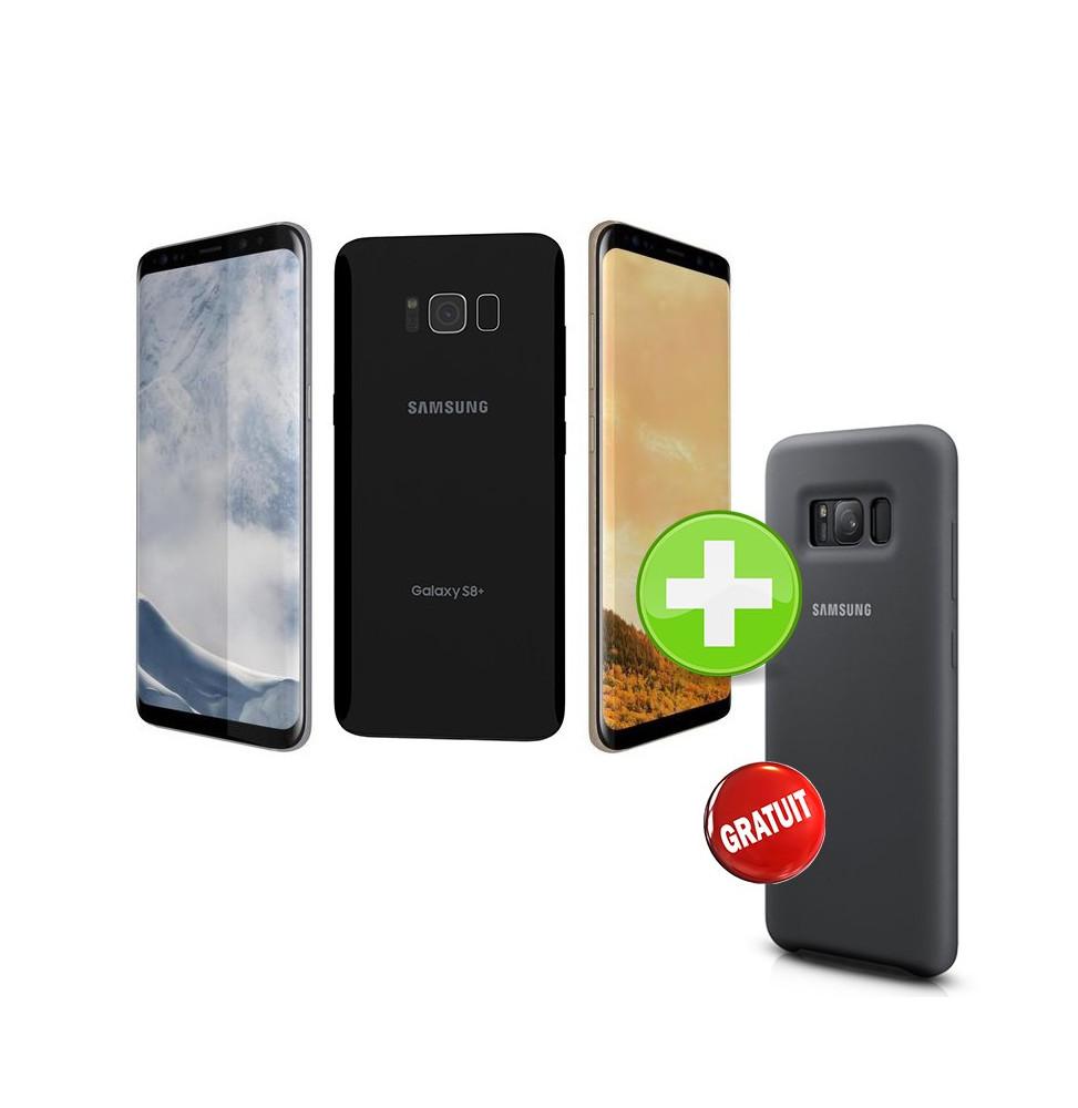 Smartphone 4G Samsung Galaxy S8 + avec Silicone Cover