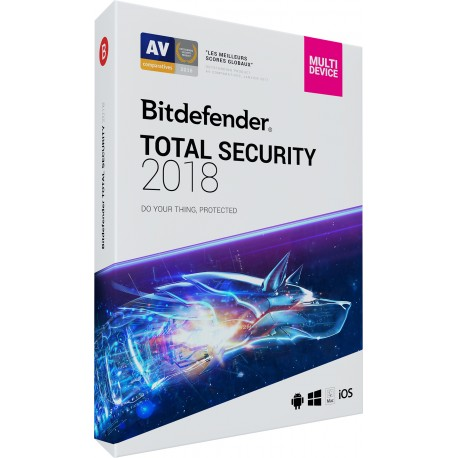 Bitdefender Total Security 2018 1 AN 5 Multi-Device