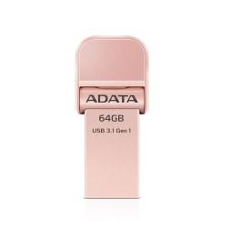 Clé USB ADATA i-Memory AI920 - 64 GB USB 3.1 - Rose Dorée