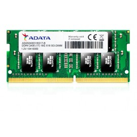 Barrette mémoire PC Portable ADATA 4GB DDR4 SODIMM 2400 MHz PC4-19200 (ADA-4S2400J4G17-S)