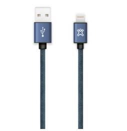 Câble Eclair XtremeMac Denim - Bleu Jean - 1,2 m (XCL-DNC-23)