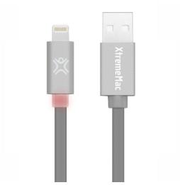 Câble Eclair XtremeMAc à LED Plat - 1,2 m Gris (XCL-FLD-13)