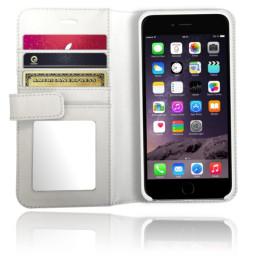Etui XtremeMac En Cuir X-Wallet - Miroir Pour IPhone 6 / S / Plus - Blanc (IPP-XW6-03)