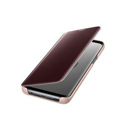 Étui Samsung Clear View Fonction Stand pour Galaxy S9 Gold (EF-ZG960CFEGWW)