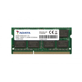 Barrette mémoire ADATA 2GB DDR3 256*8 PC3-12800 - PC Portable