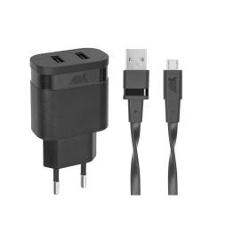 Chargeur Secteur Mural Rivapower VA4123 2USB x 3.4 A - Micro USB 1 m