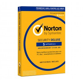 Norton Security Deluxe - 1 An - 5 appareils (A143821)