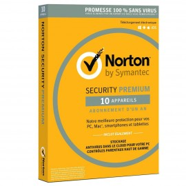 Norton Security Premium - 1 An - 10 appareils (A143823)