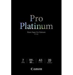 Papier Photos Canon PT-101 - Pro Platinum - 20 feuilles A3 de 300 g/m² (2768B017AC)