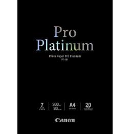 Papier Photos Canon PT-101 - Pro Platinum - 20 feuilles A4 de 300 g/m² (2768B016AC)