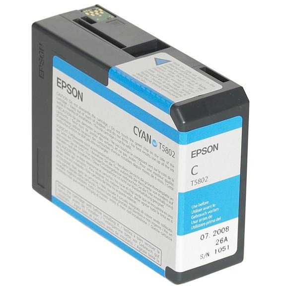 Cartouche d'encre Epson SP 3800/3800 (80ml) cyan (C13T580200)