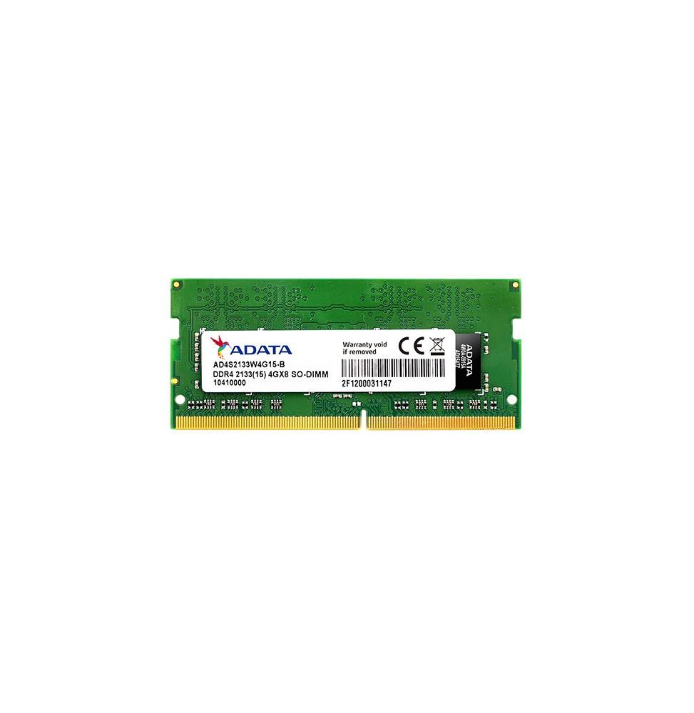 Barrette Mémoire ADATA DDR4 SO-DIMM 8GB 2133 (15) - 1024MX8 - Pc Portable (AD4S213338G15-S)