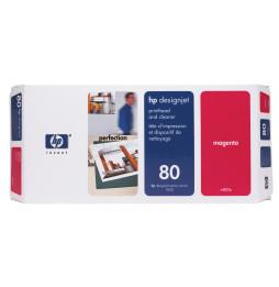 Tête d'impression et dispositif de nettoyage magenta HP 80 (C4822A)
