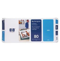 Tête d'impression et dispositif de nettoyage cyan HP 80 (C4821A)