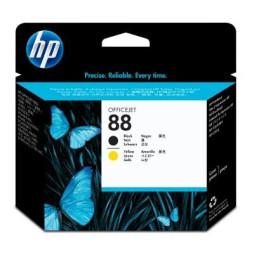Tête d'impression Officejet noire et jaune HP 88 (C9381A)