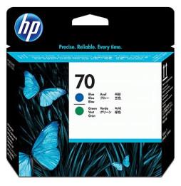 Tête d'impression bleue et verte HP 70 (C9408A)