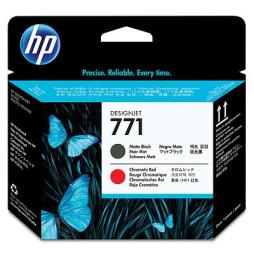 Tête d'impression noire à finition mate/rouge chromatique HP 771 Designjet (CE017A)