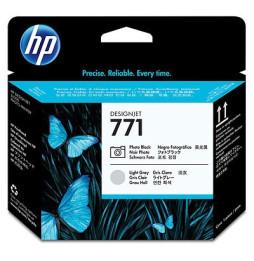 Tête d'impression noire photo/gris clair HP 771 Designjet (CE020A)