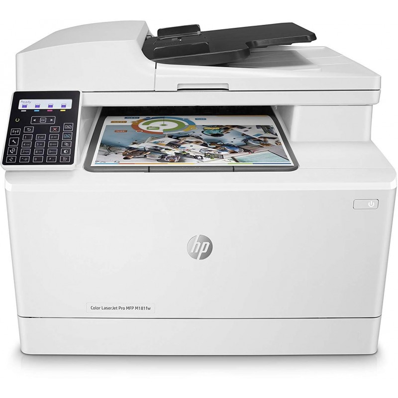 Imprimante Multifonction Laser HP Color LaserJet Pro MFP M181fw (T6B71A)