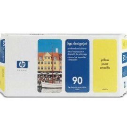 Tête d'impression et dispositif de nettoyage jaune HP 90 (C5057A)