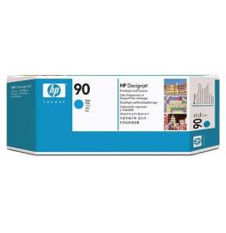 Tête d'impression et dispositif de nettoyage cyan HP 90 (C5055A)