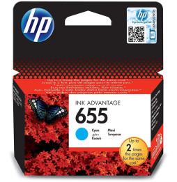 HP 655 Cyan - Cartouche d'encre HP d'origine (CZ110AE)