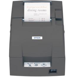 Imprimante ticket à impact Epson TM-U220B USB noire avec alimentation (C31C514057A0)
