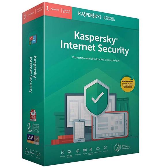 Kaspersky Internet Security 2019 - 1 Poste / 1 An / Multi Appareils