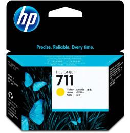 HP 711 Jaune - Cartouche d'encre HP d'origine (CZ132A)