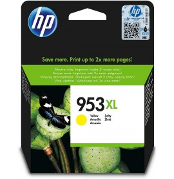HP 953XL Jaune - Cartouche d'encre grande capacité HP d'origine (F6U18AE)