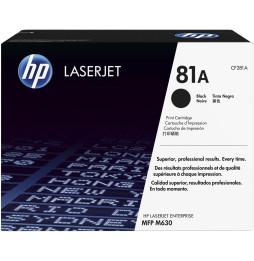 Toner LaserJet noir authentique HP 81A (CF281A)