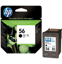 Cartouche d'impression noire HP n° 56 (19 ml) (C6656AE)