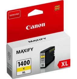 Canon PGI-1400XL Y Jaune - Cartouche d'encre grande capacité Canon d'origine (9204B001AA)