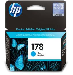 HP 178 Cyan - Cartouche d'encre HP d'origine (CB318HE)