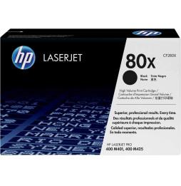 Cartouche authentique de toner noir haute capacité HP LaserJet 80X (CF280X)