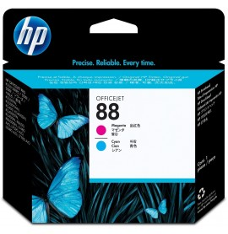 Tête d'impression magenta et cyan HP 88 Officejet (C9382A)