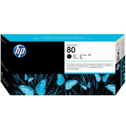 Tête d'impression et dispositif de nettoyage de tête d'impression noire HP 80 (C4820A)