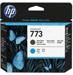 HP 773 Noir Mat/Cyan - Cartouche d'encre HP d'origine (C1Q20A)