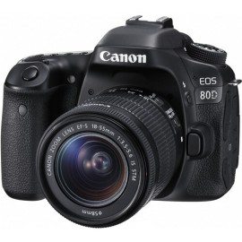 Appareil photo Compact Canon EOS 80D 18-55mm IS (1263C011AB)