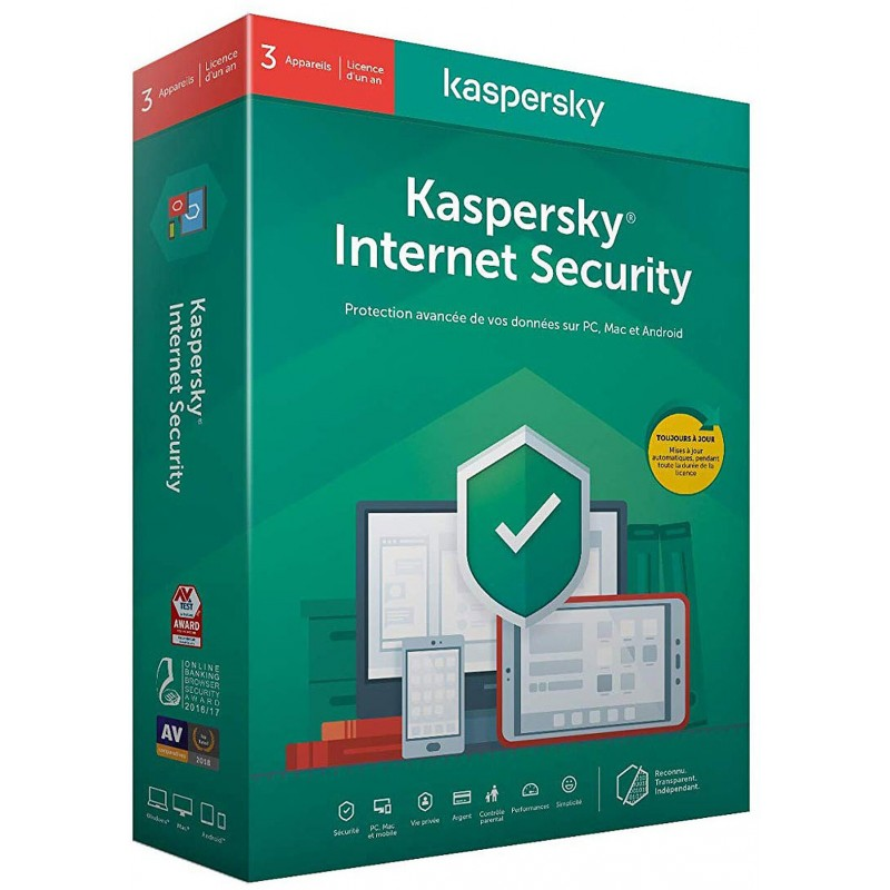 Kaspersky Internet Security 2020 - 3 Postes / 1 An