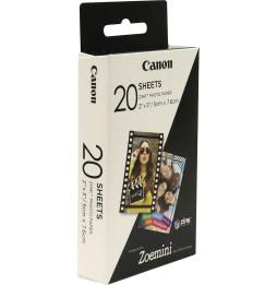 Paquet de 20 feuilles de papier photo pour Canon Zoémini ZP-2030 (3214C002AA)