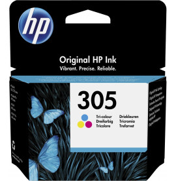 HP 305 trois couleurs - Cartouche d'encre HP d'origine (3YM60AE)