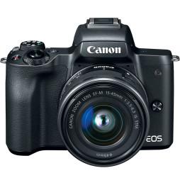 Appareil photo hybride Canon EOS M50 Noir + objectif EF-M 15-45mm STM Noir(2680C012AA)