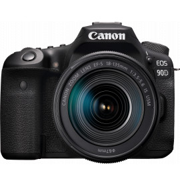 Reflex Canon EOS 90D + objectif EF-S 18-135mm IS USM (3616C017AA)