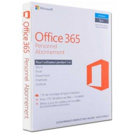 Microsoft Office 365 Personnel Français - 1 an (QQ2-01039)