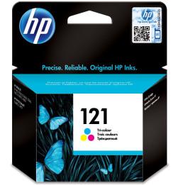 HP 121 trois couleurs - Cartouche d'encre HP d'origine (CC643HE)