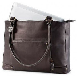 Sacoche HP Ladies Brown Leather Tote (F3W12AA)