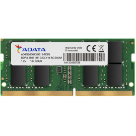 Barrette mémoire ADATA DDR4-2666 SO-DIMM 8G - 1024MX8 - Pc Portable (AD4S266638G19-S)