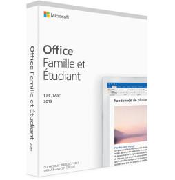 Microsoft Office Famille et Étudiant 2019 pour Windows/MAC - Français (79G-05195)